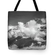 Volcano Chachani In Arequipa Peru Covered By Clouds Tote Bag