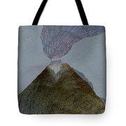 Volcano Dawn - Original Acrylic Painting Tote Bag
