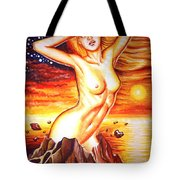 Volcano Girl Tote Bag