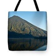 Volcano Reflected In Atitlan Lake 5 Tote Bag