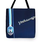 Volkswagen Vw Bug Hood Emblem Tote Bag