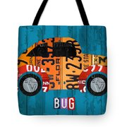 Volkswagen Vw Bug Vintage Classic Retro Vehicle Recycled License Plate Art Usa Tote Bag