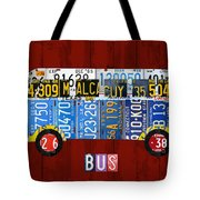 Volkswagen Vw Bus Vintage Classic Retro Vehicle Recycled License Plate Art Usa Tote Bag