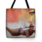 Volleyball Dig Tote Bag