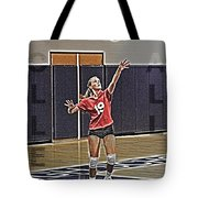 Volleyball Girl Tote Bag by Kelley King