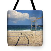 Volleyball Net Tote Bag