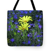 Voltage Yellow And Electric Blue 06 Tote Bag