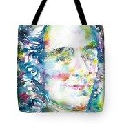 Voltaire - Watercolor Portrait Tote Bag
