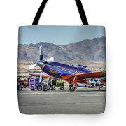 Voodoo Engine Start Sunday Gold Unlimited Reno Air Races Tote Bag