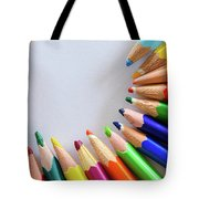 Vortex Of Colored Pencils Tote Bag