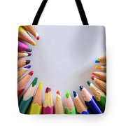 Vortex Of Colored Pencils On The Sheet Of Paper Tote Bag