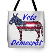 Vote Democrat Tote Bag