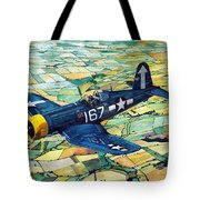 Quiet Sky - Vought F4u-1d Corsair Tote Bag