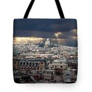 Vue De La Butte Montmartre.roofs Of Paris Tote Bag
