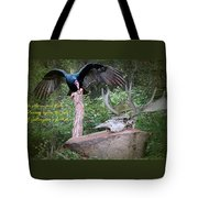 vulture with Skull Tote Bag