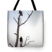 Vultures Perched In A Dead Tree Tote Bag