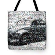 Vw Bug Volkswagen Mosaic Tote Bag