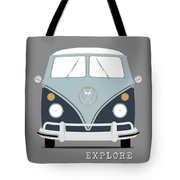Vw Bus Blue Tote Bag