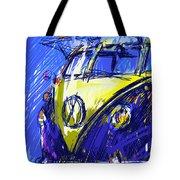 Vw Bus Blue Tote Bag