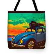 Classic Surf Rod Tote Bag