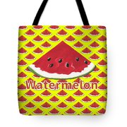 W Is For Watermelon Tote Bag