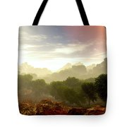Wada's Red Moon Tote Bag