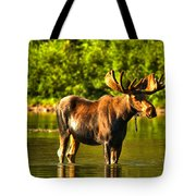 Wading For Breakfast Tote Bag