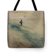 Wading In The Surf Tote Bag