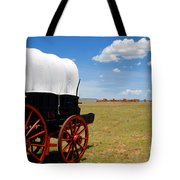 Wagon At Old Fort Union Tote Bag