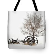 Wagon In The Snow Tote Bag