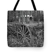 Wagon In The Woods Tote Bag