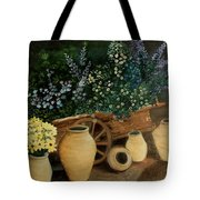 Wagon Of Fall Beauty Tote Bag