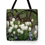 Wagon Wheel Tulips Tote Bag