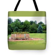 Wagon With Flowers Tote Bag