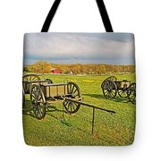 Wagons Used In The Civil War In Gettysburg National Military Park-pennsylvania Tote Bag
