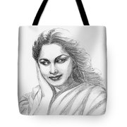 Waheeda Rehman Bollywood Actress Tote Bag