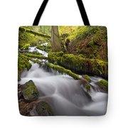 Wahkeena Creek In Green Tote Bag