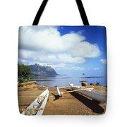 Waiahole, Outrigger Canoe Tote Bag