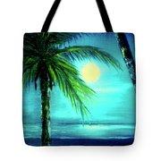 Waikiki Beach Moon #22 Tote Bag