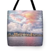 Waikiki Beach Sunset Tote Bag