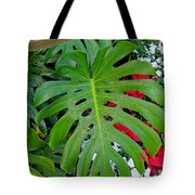 Waikiki Split Leaf Tote Bag