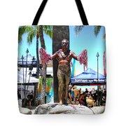 Waikiki Statue - Duke Kahanamoku Tote Bag