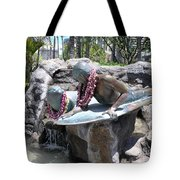 Waikiki Statue - Surfer Boy And Seal Tote Bag