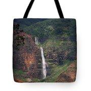 Waimea Canyon Waterfall Tote Bag