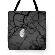 Waning Black And White Tote Bag
