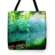 Waiting Bench Tote Bag