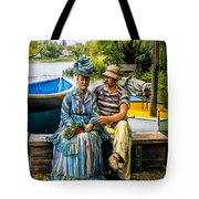 Waiting By The Boats Tote Bag