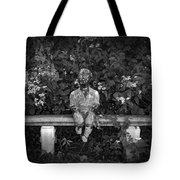 Waiting By The Garden Tote Bag