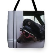 Waiting Dog  Tote Bag
