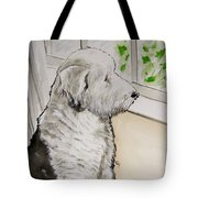 Waiting For Dad Tote Bag